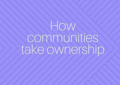 How communities take ownership
