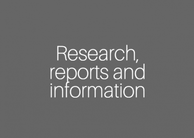 Research publications, reports and information