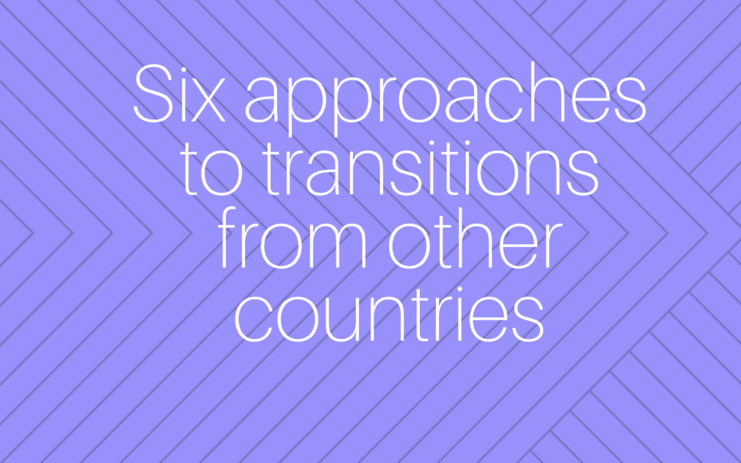 6 approaches to transitions project