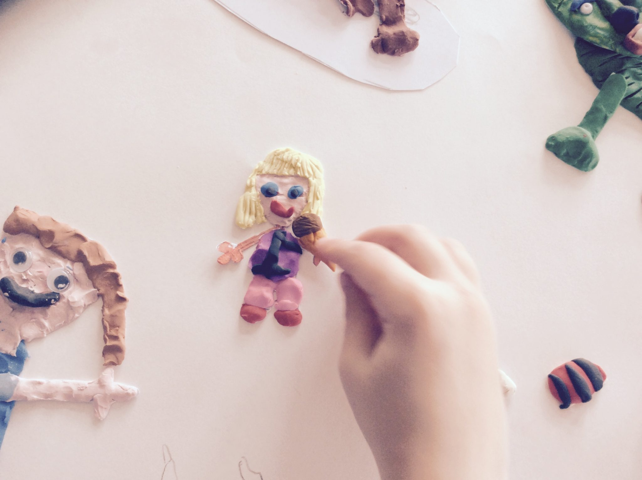 Image of Plasticine character for use in animation
